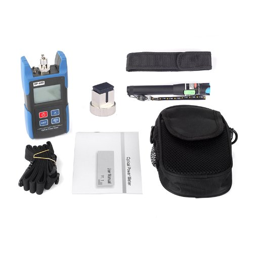 Sainsonic Wattsout Op-600 Portable Optical Power Meter + 25Mw Visual Fault Locator Fiber Optic Cable Tester Meter 20Km For Catv Cctv Telecommunications Engineering Maintenance Cabling System