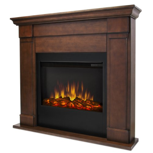Real Flame Lowry 7900-X-Vbm Slim Line Electric Firpelace In Vintage Black Maple - Mantel Only
