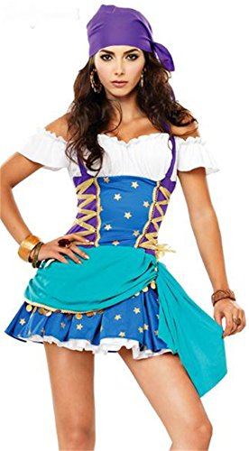 FCCO Costumes Halloween pirates play Costume Indian huntress pirate Costume