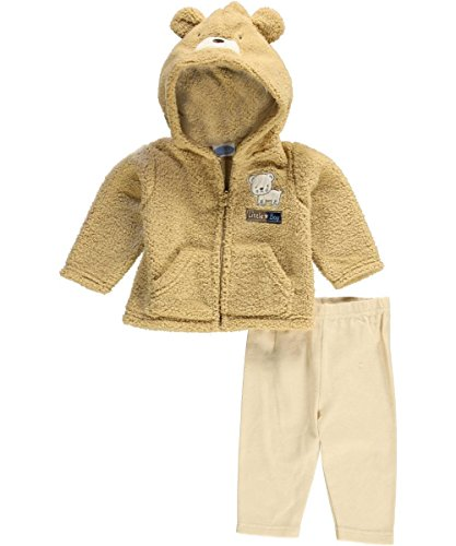 "Bon Bebe Baby Boys' ""Little Boy Bear"" 2-Piece Outfit - Khaki, 3 - 6 Months front-1079200"