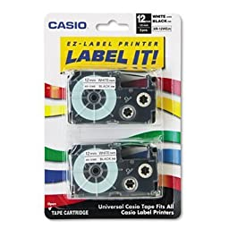 CSOXR12WE2S - Casio Tape Cassettes for KL Label Makers by Casio