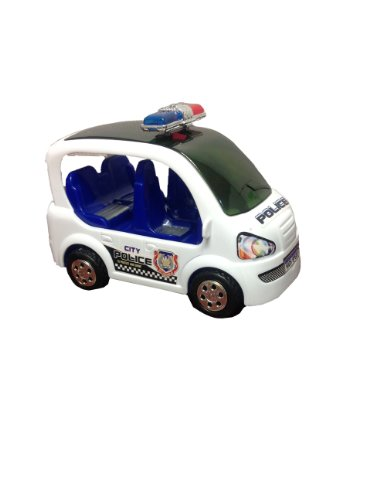 Electric City Police Patrol Car With 3D Lights & Sirens,Bumps N Go'S All Around,Great Toy For Kids
