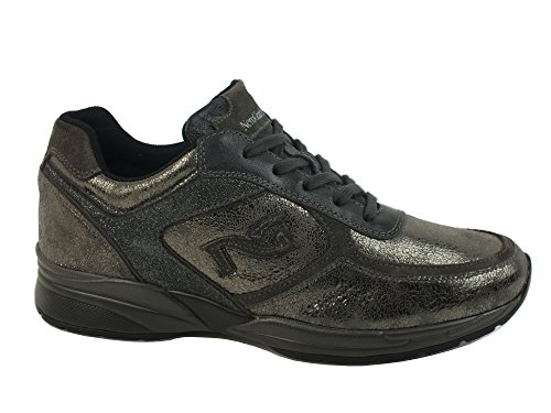NERO GIARDINI Sneaker lacci donna PELLE LUXURY ANTRACITE A616031D 38