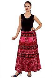 Cotton Multi Color Wrap Around Skirts Free Size