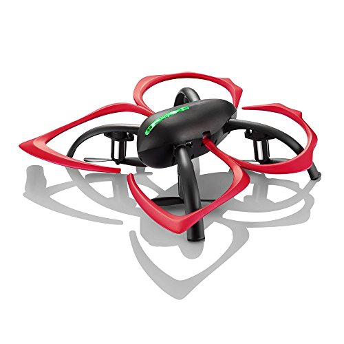 24-GHz-Drone-with-Auto-Hover-6-Axis-Gyro-Gaming-Style-Remote-Control-Black-Red-Flapperbot-by-Hover-Way