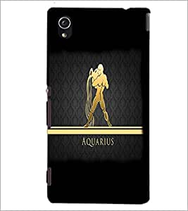 PrintDhaba Zodiac Aquarius D-4302 Back Case Cover for SONY XPERIA M4 AQUA (Multi-Coloured)