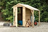 Forest Pressure Treated 6X4 Overlap Apex Shed With Lean To