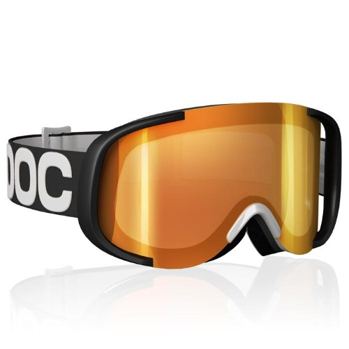 POC Cornea Mirror Goggles (Black/White/Red, One Size)