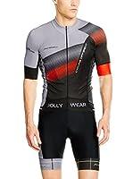 JOLLYWEAR Maillot Ciclismo Criterium (Negro / Gris)
