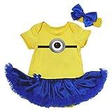 Halloween Costume Dress Yellow Monster Bodysuit Blue Tutu Baby Clothing Nb-18m (6-12month)