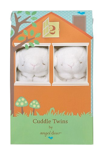 Angel Dear Cuddle Twin Set, White Lamb
