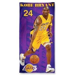 Buy Los Angeles Lakers Star Kobe Bryant Player NBA Team Logo Wincraft McArthur 30x60 Fibre Beach Towel by WinCraft