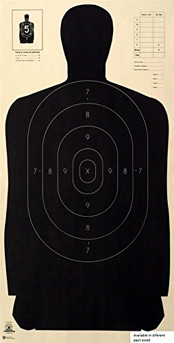Police Standard Silhouette Target - Black Rendition - Official NRA Target B-27 23