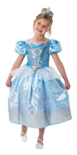 Child Girls Glitter Cinderella Costume