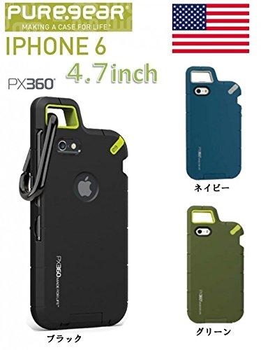 iPhone6 ケース カバー iPhone 6 / 4.7 インチ inch PUREGEAR ピュアギア PX360 カラビナ 付き エクストリーム 耐衝撃 ハード / クレイブルー