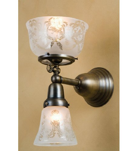 "Meyda Lighting 50755 7""W Auburn Wreath & Garland 2 Lt Gas & Electric Wall Sconce at Amazon.com"