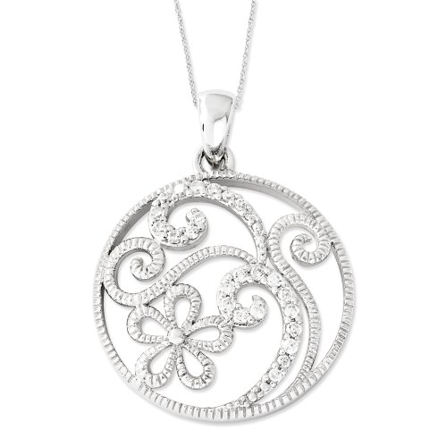 Sterling Silver Friendship in Bloom Sentimental Expressions Necklace