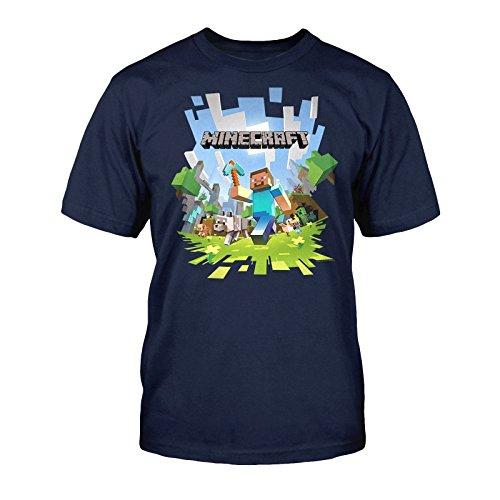 Minecraft-Adventure-Camiseta-infantil-azul-128-134-cm-8-9-Aos