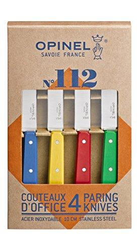 Opinel 1233 Coffret de 4 Couteaux d'Office N°112 Couleur Classique