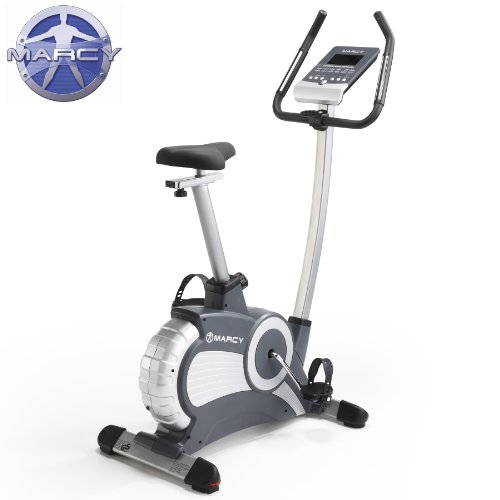 Marcy CL803 Unisex Adult Deluxe Exercise Cycle - Silver/Black, 30kg