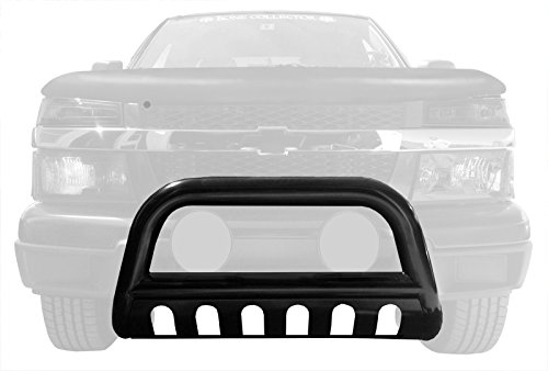 MaxMate Premium Black Bull Bar Bumper Brush Guard with Skid Plate with Skid Plate Fits 04-12 Chevy Colorado; 04-12 Gmc Canyon (Chevy Truck Skid Plate compare prices)