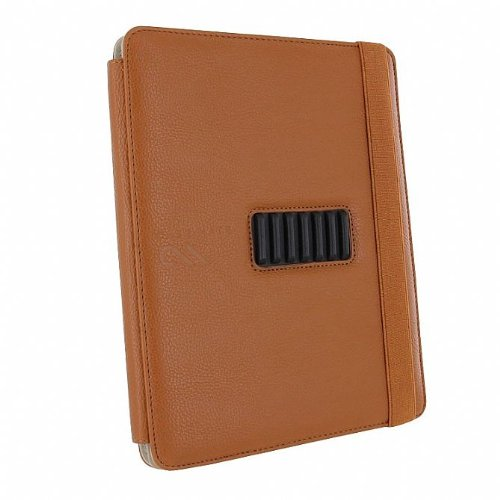 Case-Mate 日本正規品 iPad 2 Versant Leather Folio Stand Case With Hand-Strap, Brown スタンド機能・ハンドストラップつき ブックタイプ レザー調ケース「Versant」 ブラウン CM013828