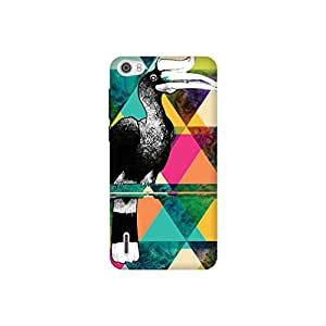The Racoon Lean The Hornbill Fractal hard plastic printed back case / cover for Huawei Honor 6