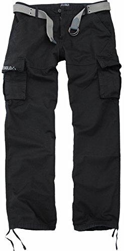 Fun Coolo Pantaloni lunghi uomo Cargo con tasconi laterali, con cintura