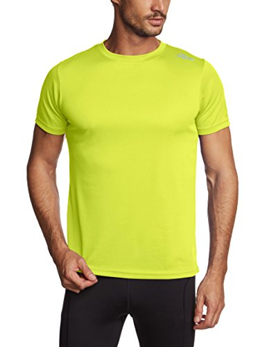 Rogelli Promo - Maglietta da running a maniche corte, da adulto Giallo Yellow - Fluor L