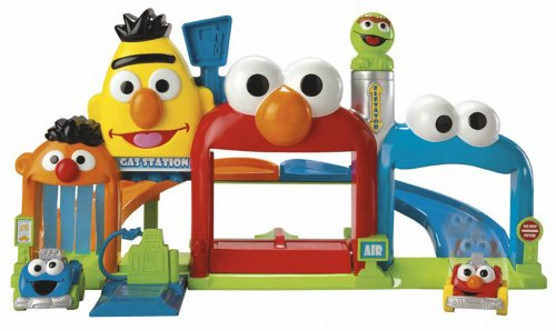 Fisher-Price Sesame Street Giggle 'N Go Garage - 1