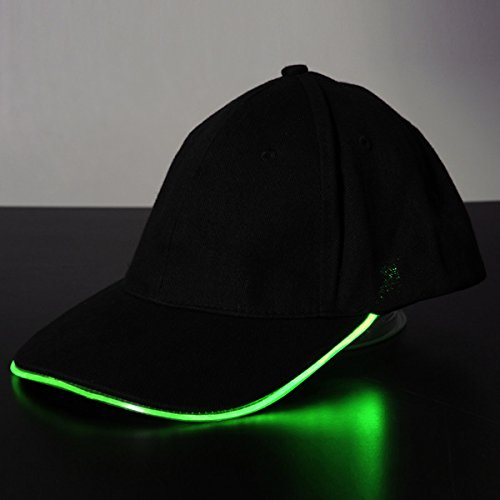 bluelover-led-light-glow-club-party-sports-athletic-black-fabric-travel-hat-cap-green