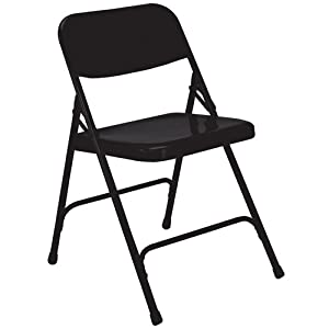 National Public Seating 210 Premium All Steel Folding Chair Black from National Public Seating