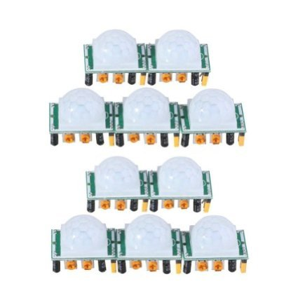 Cheapest Prices! J-deal® Pyroelectric Infrared PIR Motion Sensor Detector Module Hc-sr501 (10pcs)