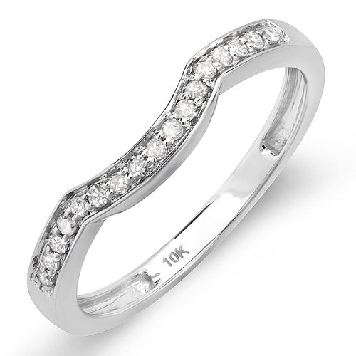 0.15 Carat (ctw) 10K White Gold Round Diamond
