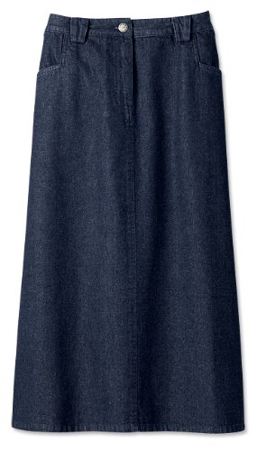 Weathered Denim A-line Skirt, 8