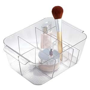 Interdesign clarity cosmetic organizer tote for Boite de rangement salle de bain