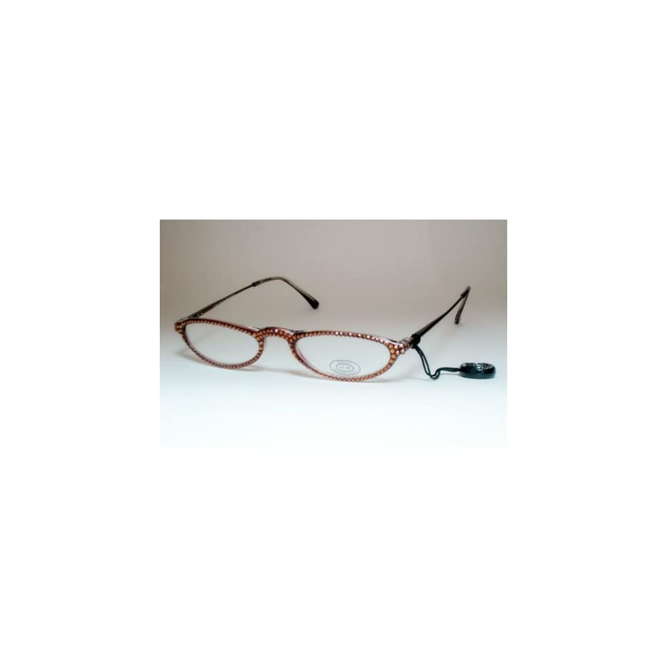 abd6cfc90d82 Jimmy Crystal Reading Glasses Smoked Topaz +1.50 on PopScreen