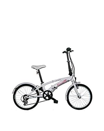 Girardengo Bicicleta Acero Plegable Unisex Blanco