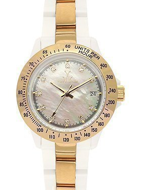 ToyWatch Heavy Metal Plasteramic Watch Collection Mini Gold White 28218-GD