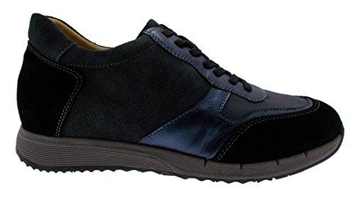 art C3681 lacci camoscio blu nero grigio plantare sneaker scarpa donna 40 nero