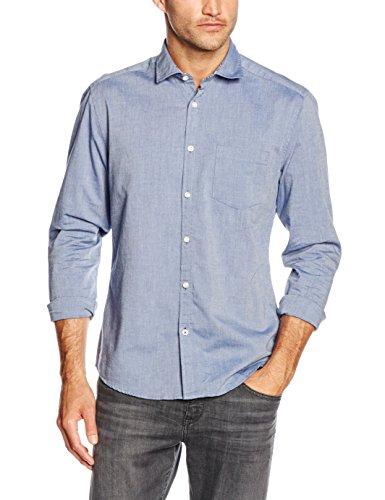 ESPRIT Chambray, Camicia Uomo, Blu (BLUE), Large
