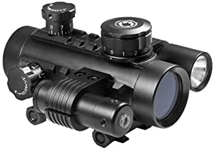 BARSKA Cross Dot Electro Sight Multi Rail Tactical Riflescope (1x30) by Barska