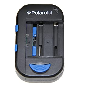 Polaroid AC / DC / USB universale al litio, AA, AAA Battery Charger