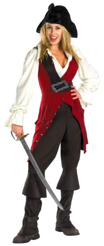 DELUXE Adult or Tween Elizabeth Swann Pirate Costume (style change, see desc)