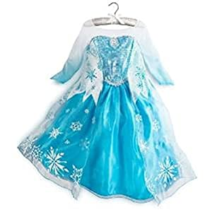 Queen Elsa Snow Snowflake Dress Costume Cosplay (3T-4T)