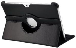 Shenit Multi Angle Stand 360 Rotatif en cuir Housse Folio pour Samsung Galaxy Tab 2 10.1 P5100/P5110 - Noir
