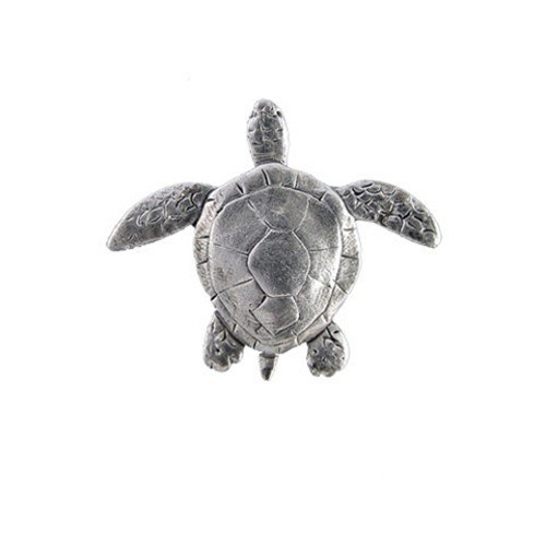 Pewter Sea Turtle Pin by The Magic Zoo