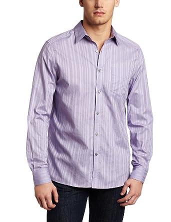 (成熟)肯尼斯科尔型男衬衣Kenneth Cole Men's Dressy Stripe Shirt 三色 $17.43
