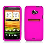 GTMax Hot Pink Soft Rubber Silicone Skin Protector Cover Case for Sprint HTC EVO LTE 4G Android Phone