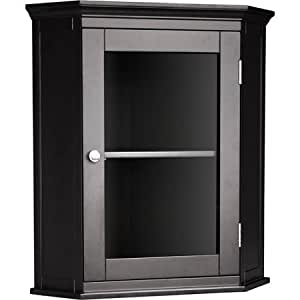 dark espresso corner wall cabinet that adds storage to